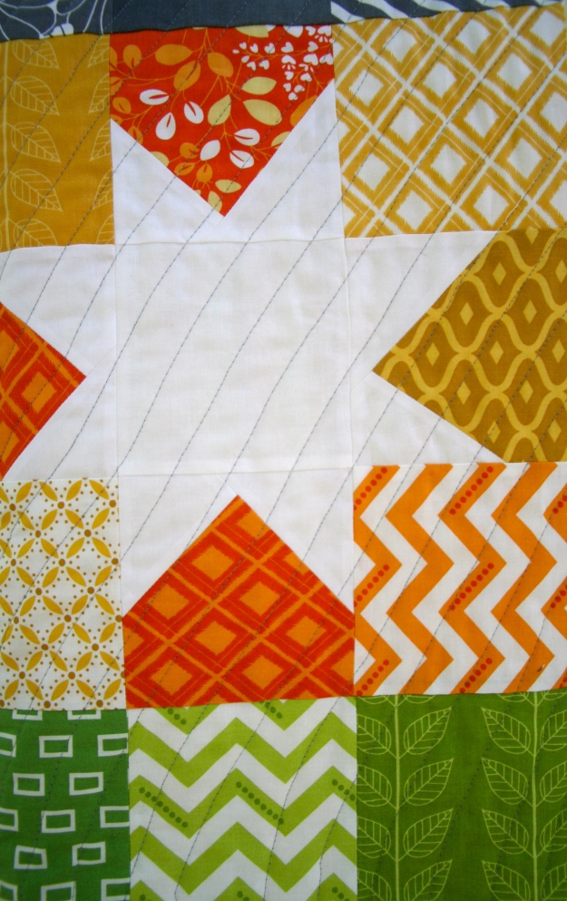 Quilting Close-up Orange Star