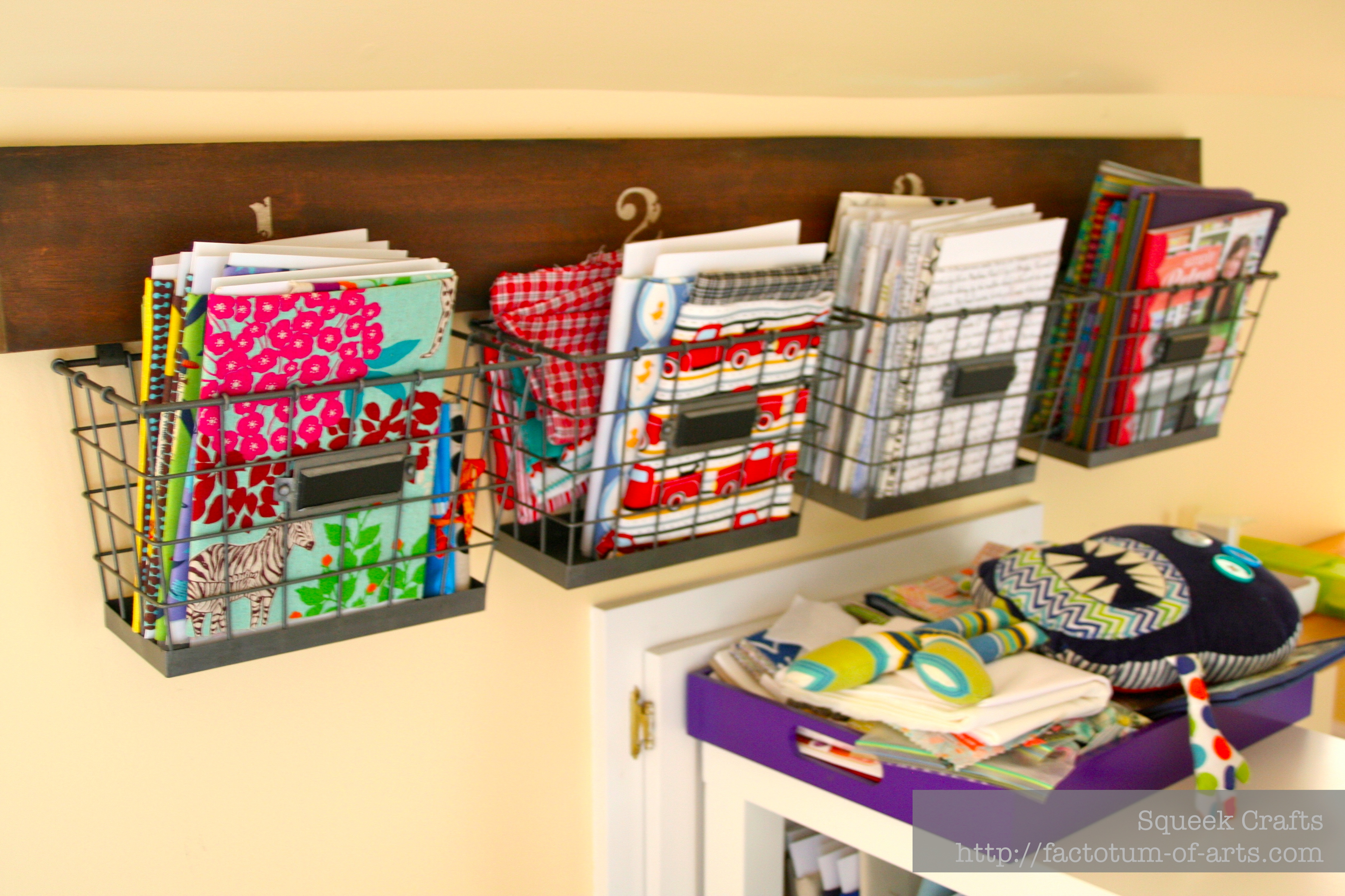 Organizing my sewing room