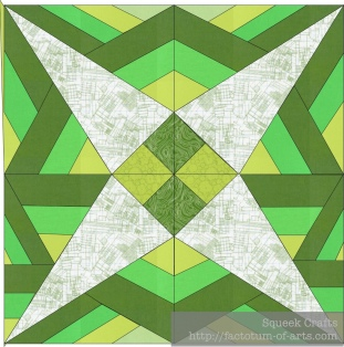 GreenStripedTapaClothStar