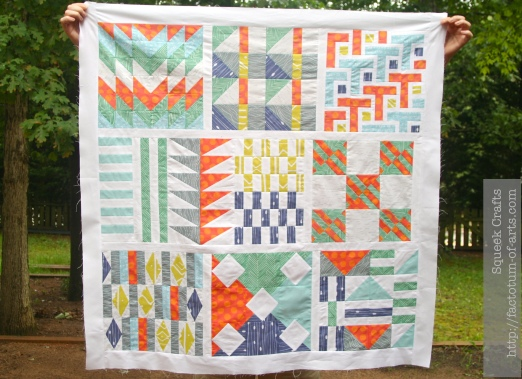 Spoonflower Sampler Quilt Top