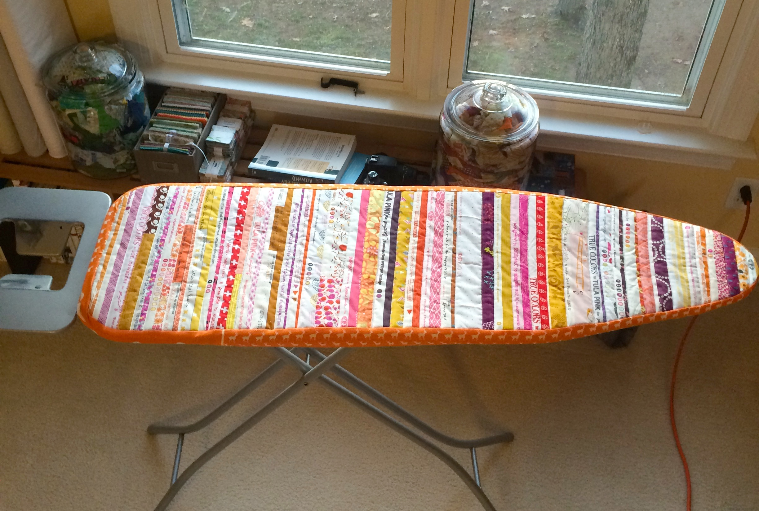 Tutorial Selvedge Ironing Board Cover Factotum Of Arts Circuit Fabric Twoboos Spoonflower