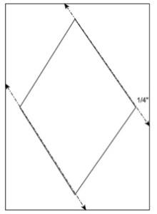Spoonflower Sampler Quilt {Block 7: Diamonds in the Rough