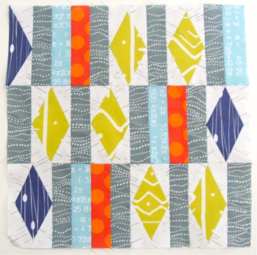 Spoonflower Sampler Quilt {Block 7: Diamonds in the Rough