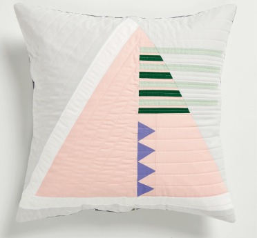 triangle cushion front